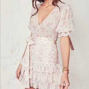 Loveshackfancy Hannah Silk dress, S